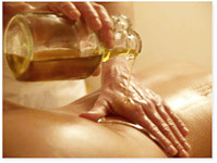 This treatment uses warm herbal oils which are made to thousand year-old recipes