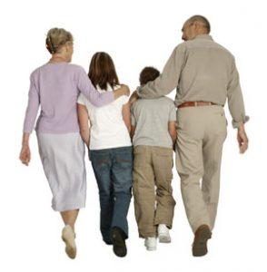 The joy of grandchildren: grandparents with their grandchildren