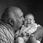The joy of grandchildren: Granddad with baby grandchild