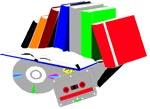 recycle books, tapes and CD's