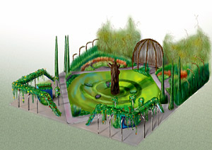 Playful Garden - artists impression