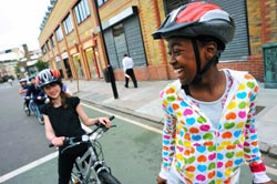 Sustrans' policy is that adults should choose whether or not they wear a helmet but that children should be encouraged to do so