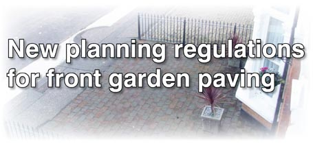 New planning regulations for front garden paving