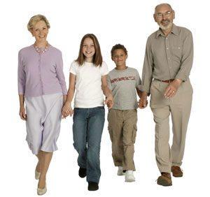 Grandparents with their granchildren 1