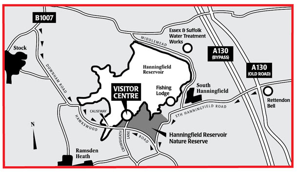 Hanningfield Reservoir - Nature Reserve and Visitor Centre location map