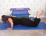 three quarter length press up - mid position