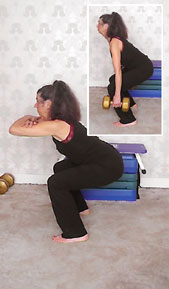 Bodyweight squat - mid position