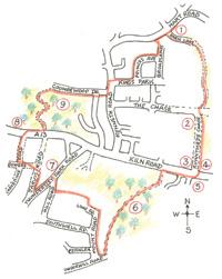 Thudersley on Foot Walk 6 map