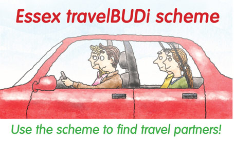 Use the Essex travelBUDi scheme to find travel partners