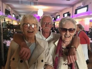 Tony with Gillian and Miriam: Age Concern Southend