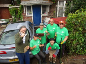 Green Aiders in Harlow improving a garden