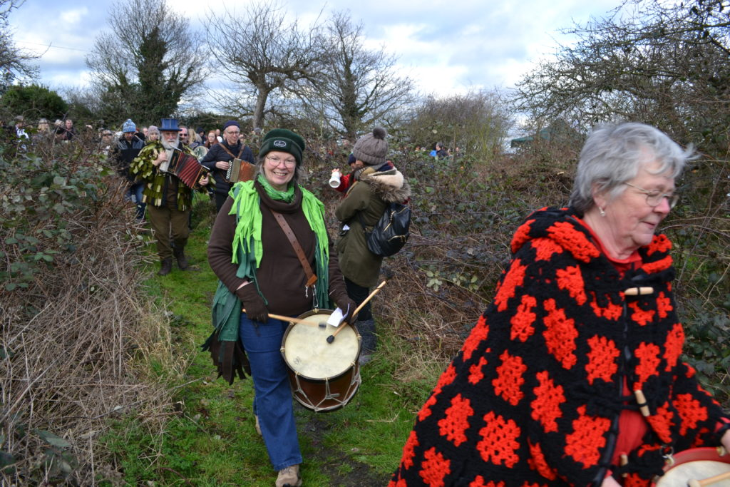 Wassailing event at St Lawrence Orchard