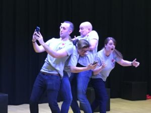 photo from Oaks Park School performance of Linked