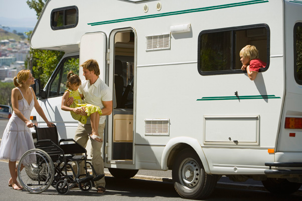 Camper and wheelchair