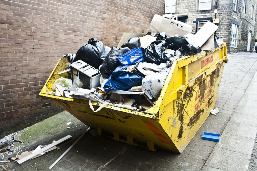 Rubbish in a skip