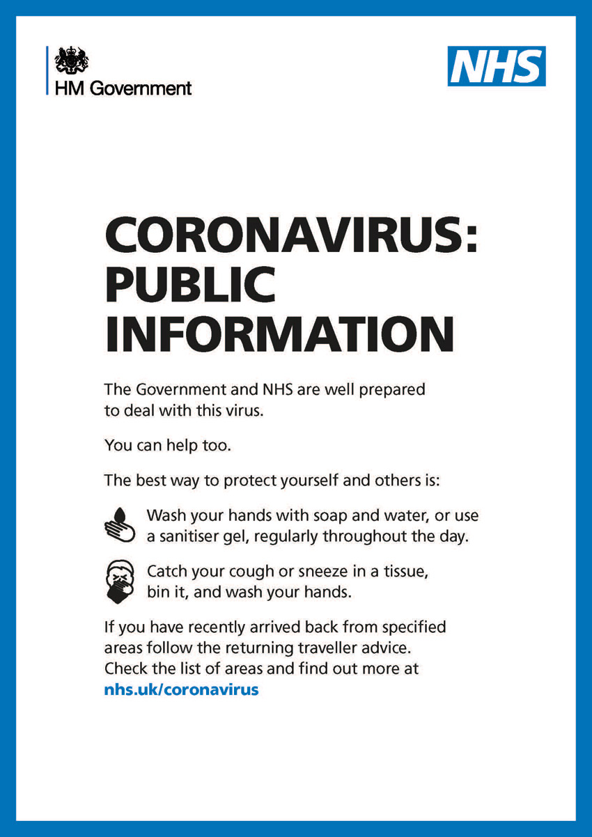 Coronavirus - public information