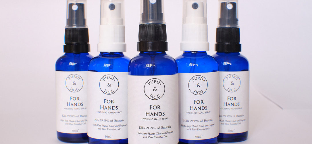 Purdy & Figg natural hand sanitisers