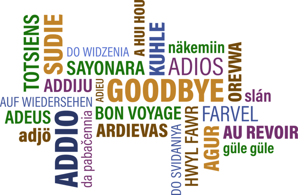 Learning to say goodbye in a foreign language