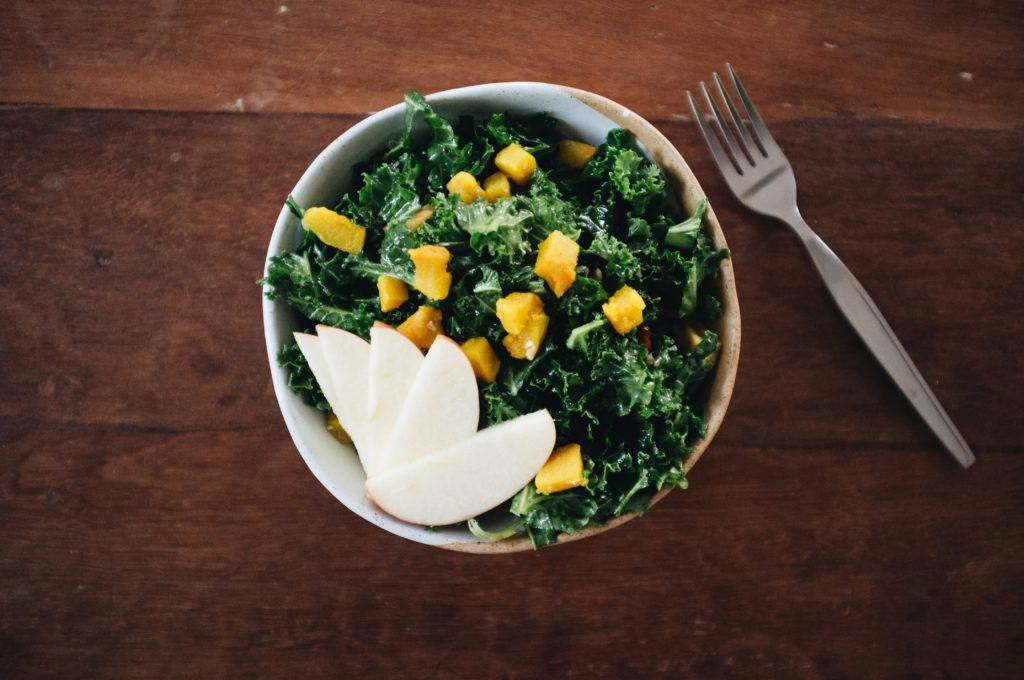 Foods to eat during pregnancy such as this kale bowl