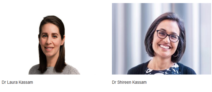 Dr Shireen Kassam and Dr Laura Kassam, Co-founders Plant Based Health Online