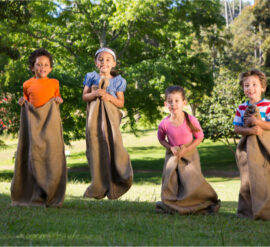 sack race is one of the fun-filled spots day activities you can do with your child