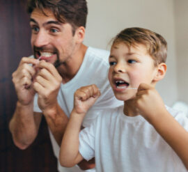 flossing regularly is important for dental health