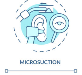 the benefits of professional ear wax removal such as microsuction